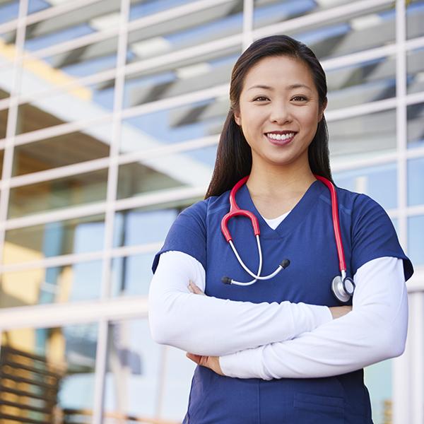 photo of female nurse smiling